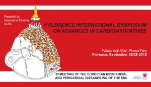 """II """"Florence International Symposium on Advances in Cardiomyopathies"""" , 9th Meeting of the Myocardial and Pericardial diseases Working Group of the European Society of Cardiology"""